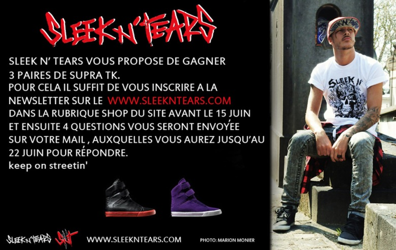FLYER SLEEK N TEARS COUP de COEUR PROMO